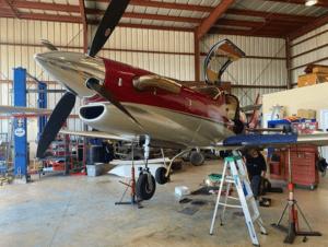 Corporate Aircraft Maintenance at work